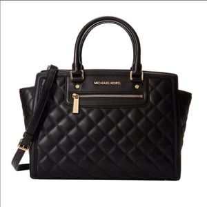 Michael Kors Selma Leather Purse